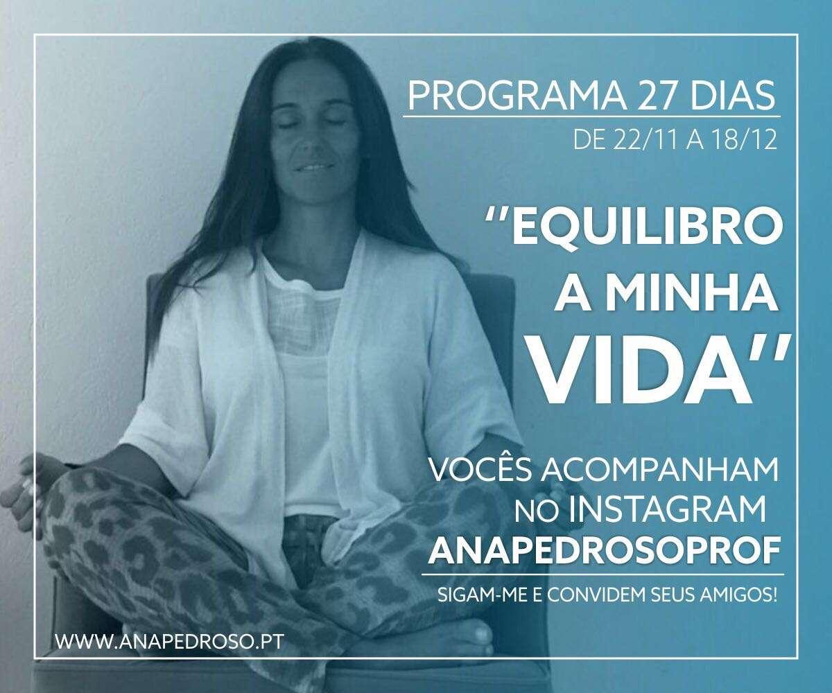 """""""EQUILIBRO A MINHA VIDA""""   Programa de 27 dias"""