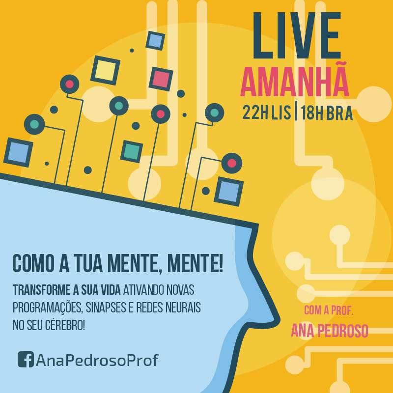 Live no Facebook Como a tua mente mente